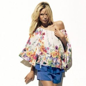 H&M The Garden Collection Floral Blouse